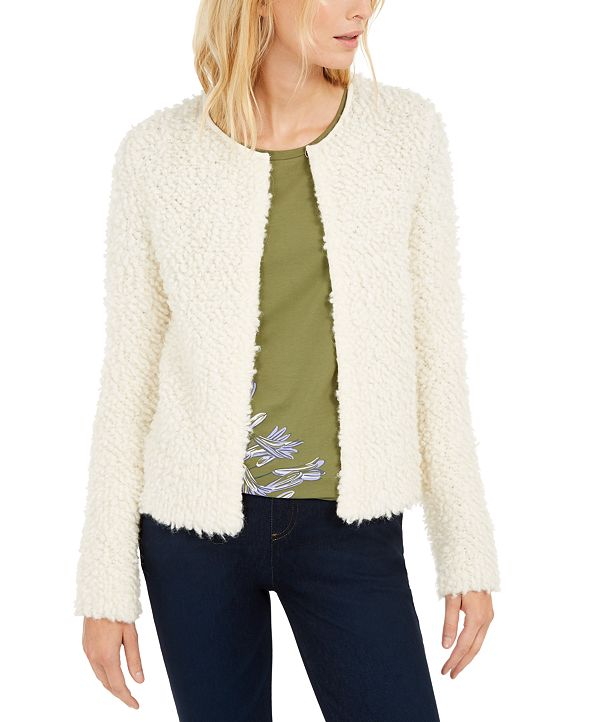 Weekend Max Mara Fuzzy Open-Front Sweater