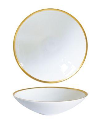 Golden Edge Soup/Pasta Bowls - Set of 2