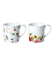 Language of Flowers Mugs - Set of 2