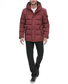 Men's Crinkle Nylon Hooded Puffer Jacket