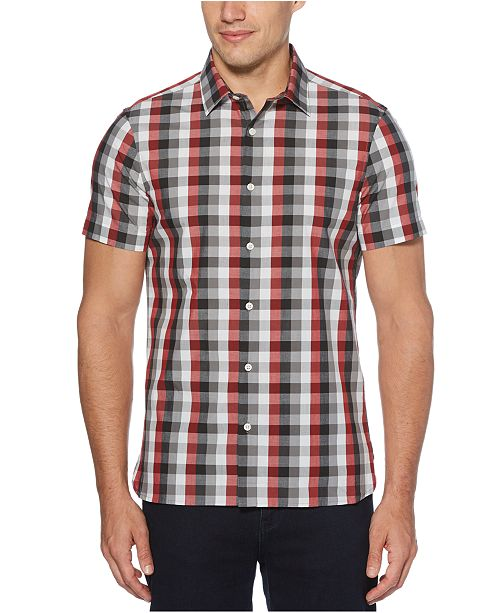 Perry Ellis Men's Checked Slim-Fit Shirt
