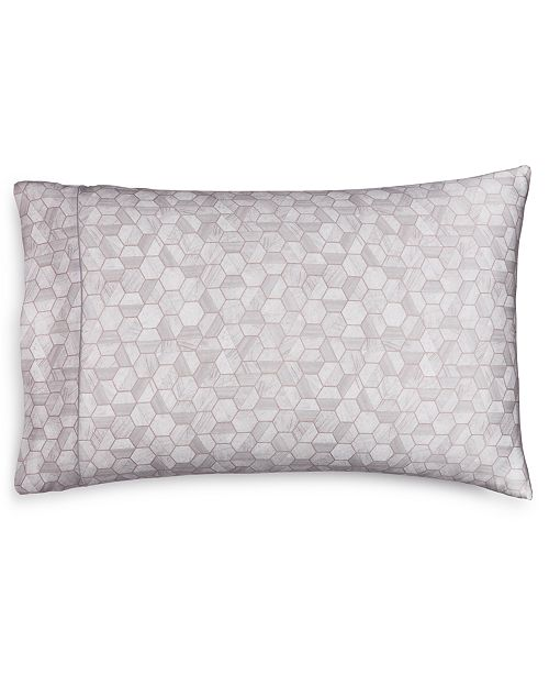 Hotel Collection CLOSEOUT! Honeycomb Silk King Pillowcase, Created for Macy's
