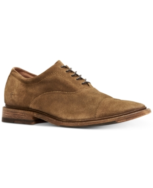 Frye Men's Paul Bal Suede Oxfords Men's Shoes In Faded Fatigue