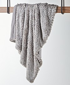 CLOSEOUT! Textured Faux-Fur Throw, Created for Macy's