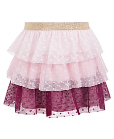 Toddler Girls Tiered Dot-Mesh Skirt, Created For Macy's