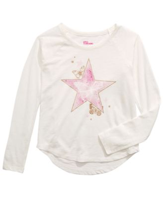 Big Girls Butterfly Star Long-Sleeve T-Shirt, Created For Macy's