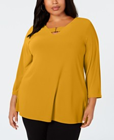 Alfani Plus Size Keyhole Tunic, Created for Macy's