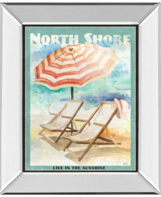 """Shore Poster by Patricia Pinto Mirror Framed Print Wall Art - 22"""" x 26"""""""