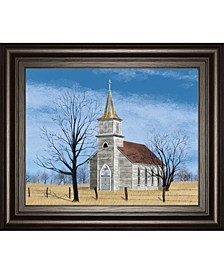 """Little House on The Prairie by Billy Jacobs Framed Print Wall Art - 22"""" x 26"""""""