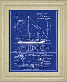 """Yacht Design by The Vintage - Like Collection Framed Print Wall Art - 22"""" x 26"""""""