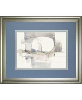 "Improvisation I Gray Crop by Mike Schick Framed Print Wall Art - 34"" x 40"""
