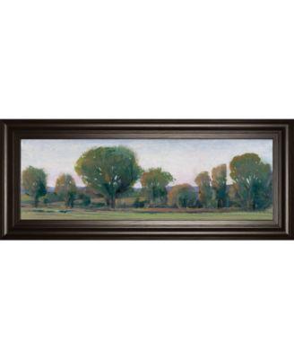 "Panoramic Treeline Il by Tim Otoole Framed Print Wall Art - 18"" x 42"""