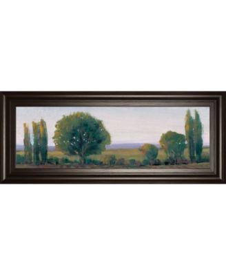 "Panoramic Treeline I by Tim Otoole Framed Print Wall Art - 18"" x 42"""