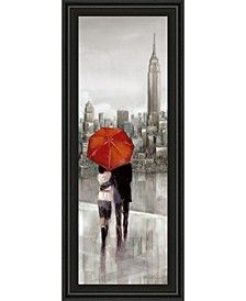"New York Stroll by Ruanne Manning Framed Print Wall Art - 18"" x 42"""