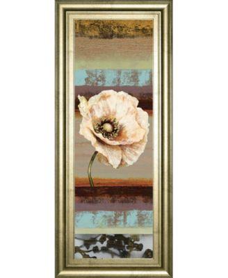 """Elemental Poppy Il by Selina Werbelow Framed Print Wall Art - 18"""" x 42"""""""