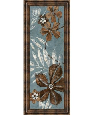 "Denim Garden I by Maria Donovan Framed Print Wall Art - 18"" x 42"""