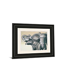 "Elephant by Peter Moustakas Framed Print Wall Art - 22"" x 26"""