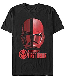 Men's Rise Of Skywalker First Order Allegiance Sith Trooper Helmet Short Sleeve T-Shirt
