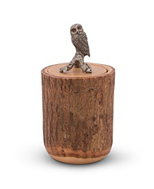 Owl Wood Canister