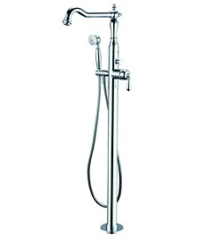 Polished Chrome Free Standing Floor Mounted Bath Tub Filler