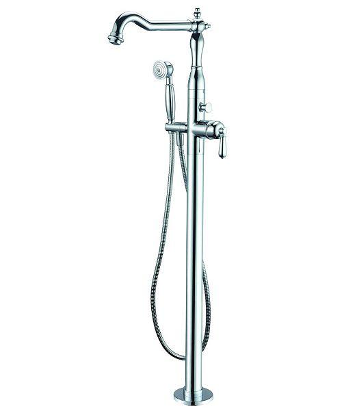 Alfi Brand Polished Chrome Free Standing Floor Mounted Bath Tub
