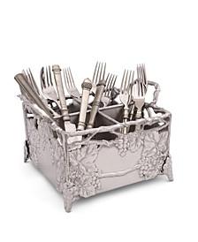 Designs Aluminum Grapevine Flatware Silverware Caddy