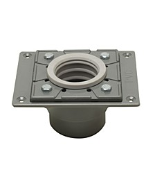 PVC Shower Drain Base with Rubber Fitting