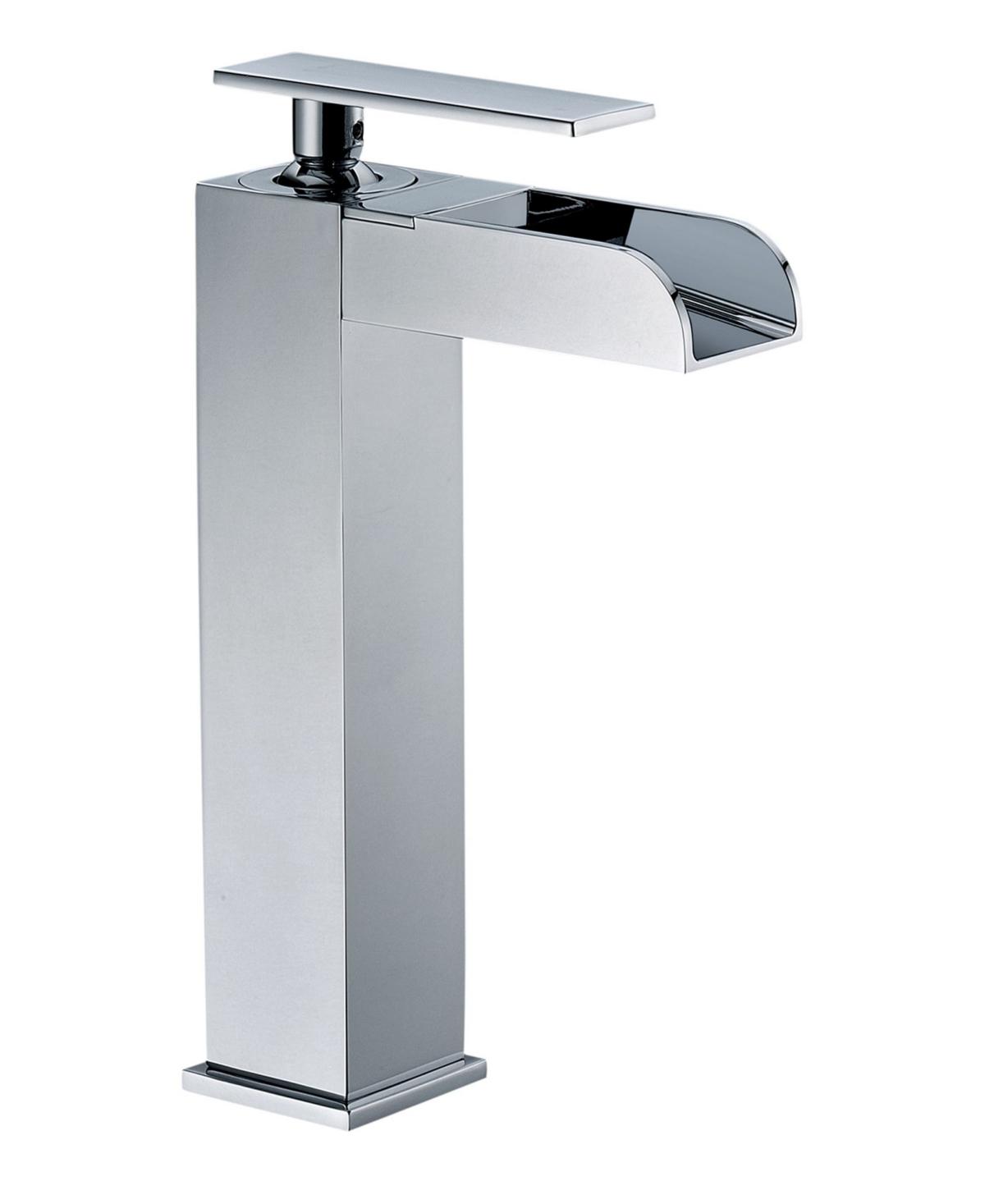 Alfi brand Polished Chrome Single Hole Tall Waterfall Bathroom Faucet Bedding