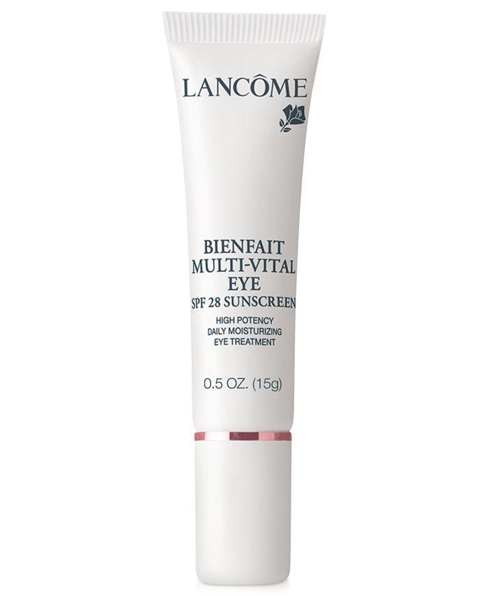 Lancôme - BIENFAIT MULTI-VITAL EYE SPF 28 24-hour Moisturizing Eye Treatment Antioxidant and Vitamin Enriched Broad Spectrum SPF 28 Sunscreen, .5 oz