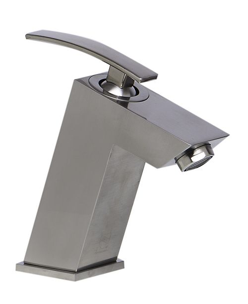 ALFI brand Brushed Nickel Single Lever Bathroom Faucet ...