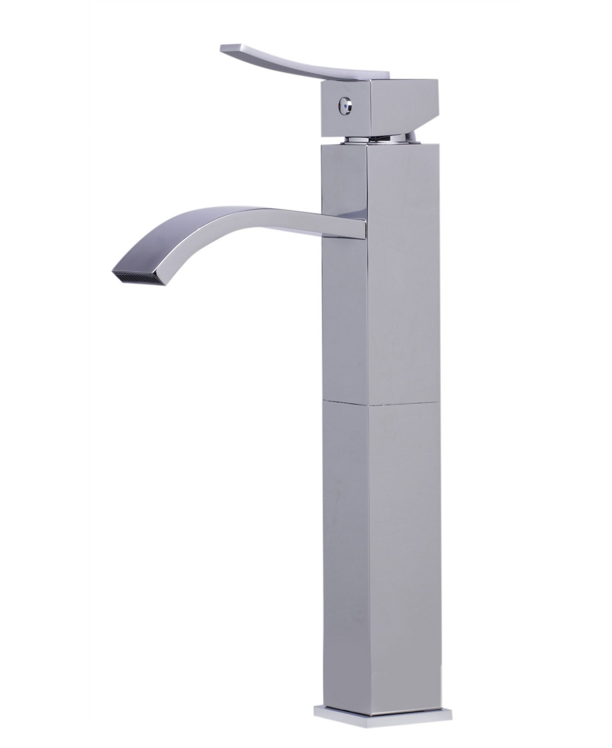 Alfi brand Tall Polished Chrome Tall Square Body Curved Spout Single Lever Bathroom Faucet Bedding