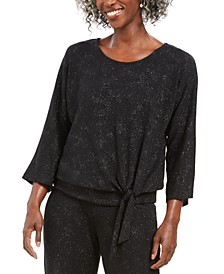 Metallic Tie-Front Top, Created for Macy's