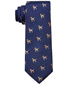 Big Boys Classic Labrador Puppies Silk Tie