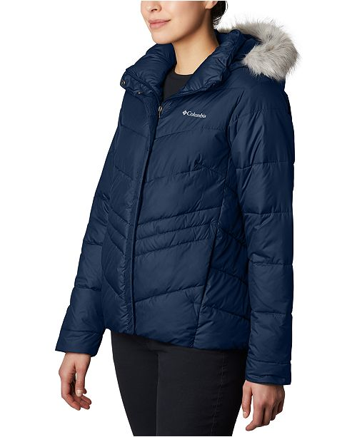 Columbia Peak To Park Insulated Faux-Fur-Trim Jacket