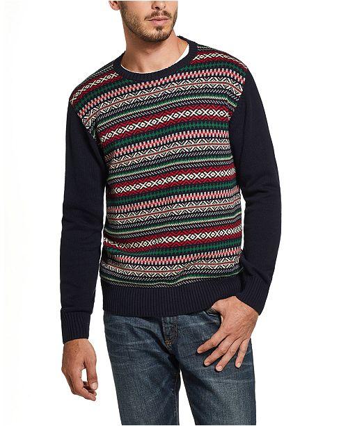 Weatherproof Vintage Men's Fair Isle Sweater