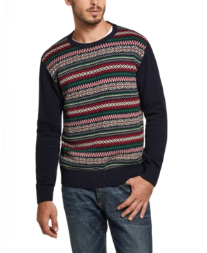 1950s Men's Clothing Weatherproof Vintage Mens Fair Isle Sweater $75.00 AT vintagedancer.com