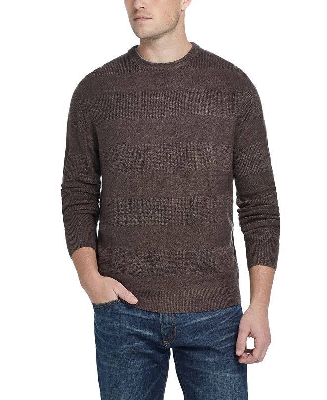 Weatherproof Vintage Men's Soft Touch Striped Sweater