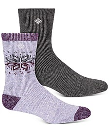 Women's 2-Pk. Winter Blast Crew Socks