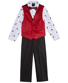 Toddler Boys 4-Pc. Velvet Vest Set