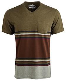 Men's Explorer Stripe V-Neck T-Shirt, Created For Macy's