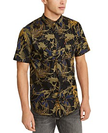 Men's Furlon Palm Print Short Sleeve Shirt