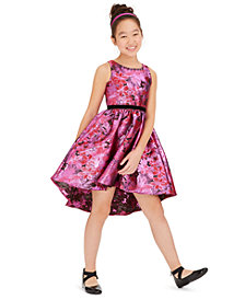 Rare Editions Big Girls High-Low Brocade Dress