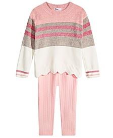Toddler Girls Scalloped Sweater & Leggings, Created For Macy's