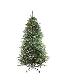 4.5' Pre-Lit Washington Frasier Fir Slim Artificial Christmas Tree - Clear Lights