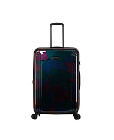 """Triforce Lumina 30"""" Spinner Iridescent Abstract Print Luggage"""