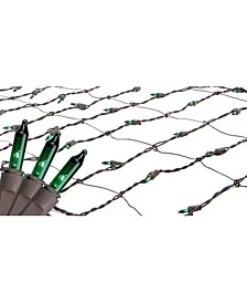 2' x 8' Green Mini Tree Trunk Wrap Christmas Net Lights - Brown Wire
