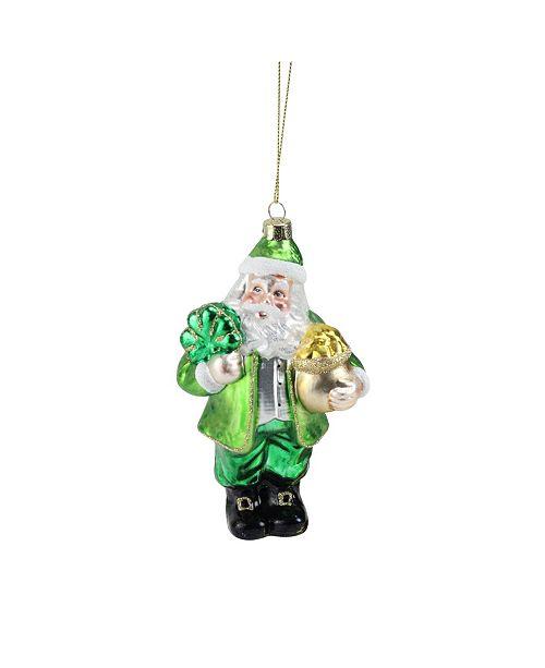 "Northlight 5.75"" Glass Santa Chef Decorative Christmas Ornament"