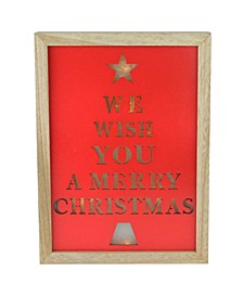 "11.75"" We Wish You a Merry Christmas LED Battery Operated Wall Decoration"
