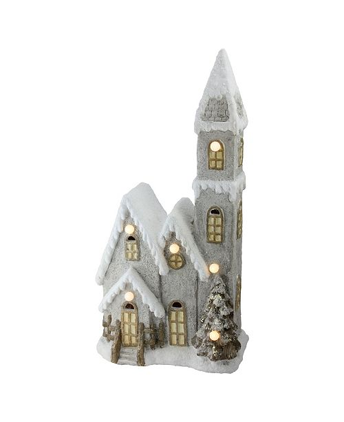 """Northlight 24.5"""" LED Lighted 3-Tier Musical House Christmas Decoration"""