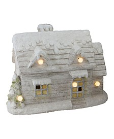 Led Lighted Musical Snowy Cottage Christmas Decoration
